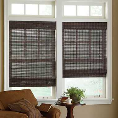 Custom Bamboo Woven Wood Roman Shade - JC Penney