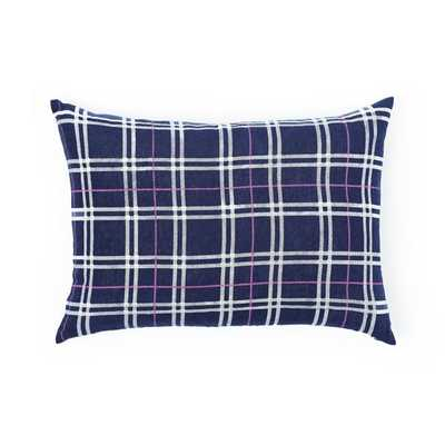 "NAVY PLAID PILLOW - 14""X20"" - Insert sold seperately - Caitlin Wilson"