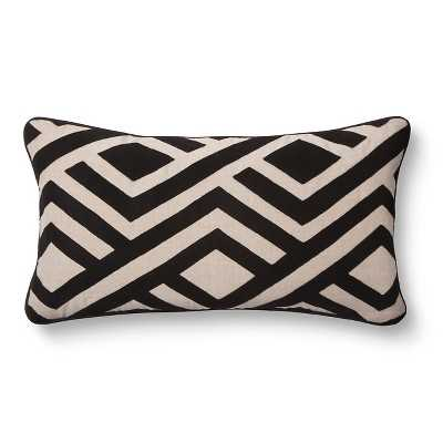 Classic Home Perry Natural/Black Toss Pillow - 14x26 - Target