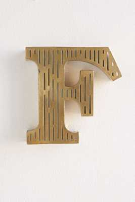 Acid Etched Letter - F - Urban Outfitters