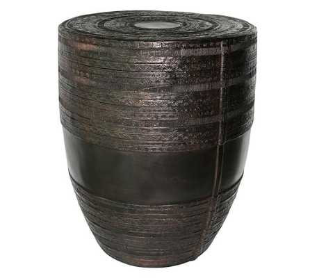 METAL DRUM ACCENT TABLE - Pottery Barn