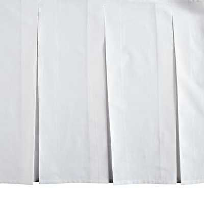 White Box Pleated Crib Skirt - Land of Nod