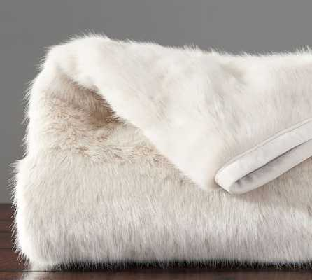 FAUX FUR THROW - LIGHT FOX - FAWN - Pottery Barn