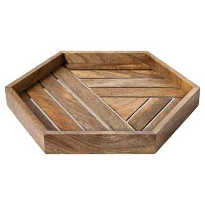 Nate Berkus Wood and Metal Inlay Tray - Target
