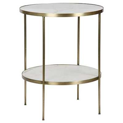Noir Rivoli Side Table - Brass - Candelabra