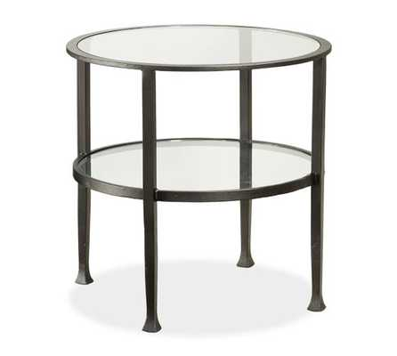 TANNER ROUND SIDE TABLE - BRONZE FINISH - Pottery Barn