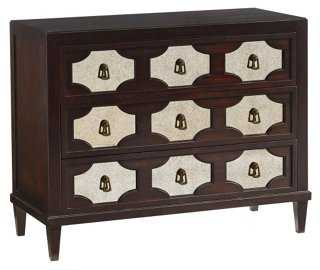 "Winslow 45"" Mirrored Hall Chest, Brown - One Kings Lane"