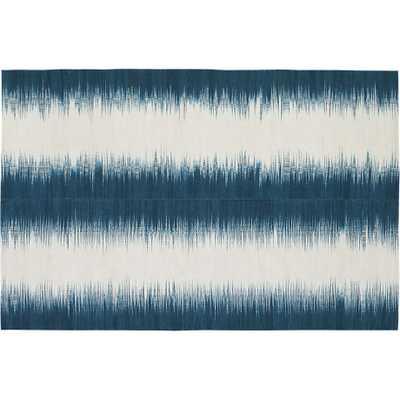 Reverb blue-green rug - CB2