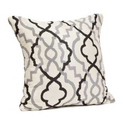 "Marrakech Black and Gray Pillow - 18""L x 18""H - Insert sold separetely - kirklands.com"