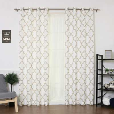 Quatrefoil Grommet Curtain Panel (Set of 2) - jossandmain.com