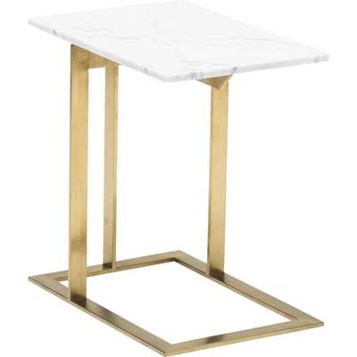Dell Side Table, Gold - High Fashion Home