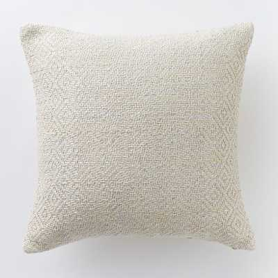 "Woven Metallic Silver Pillow Cover - 18""sq. -  Without insert - West Elm"