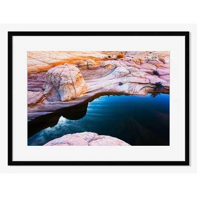 "Desert River - Mat - 38"" x 27"" - Framed - West Elm"