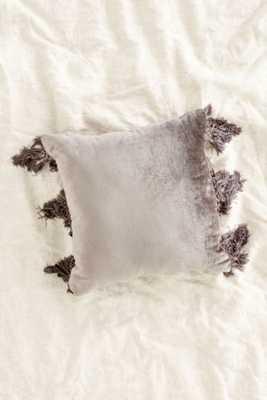 Magical Thinking Velvet Fringe Pillow - Urban Outfitters