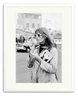 "Françoise Hardy at Brands Hatch-12""x16""-Framed - One Kings Lane"