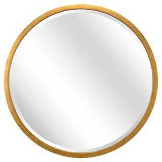 Carol Round Wall Mirror, Gold - One Kings Lane