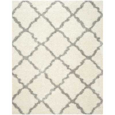 Dallas Shag Ivory & Gray Area Rug - 6'x9' - Wayfair