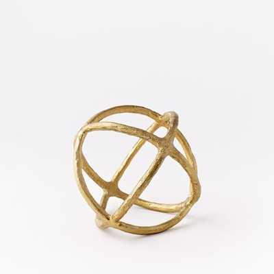 Sculptural Spheres - Small - Gold - West Elm