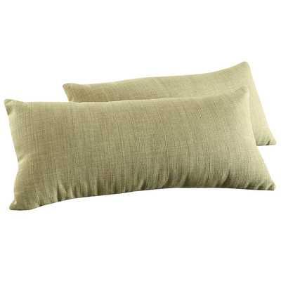 Ariana Linen Kidney Lumbar Pillow - Chartreuse, 11.5x22 - With insert - Wayfair