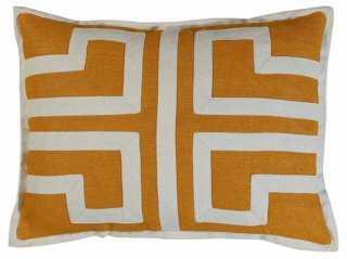Maison 13x18 Pillow, Orange-down insert - One Kings Lane