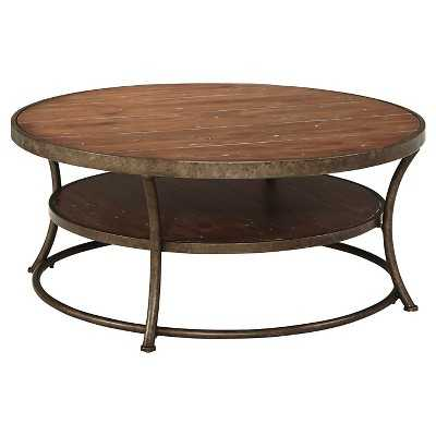 Nartina Round Cocktail Table - Light Brown - Signature Design by Ashley - Target