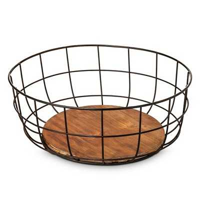 Iron and Wood Bowl-Small - The Industrial Shop - Target