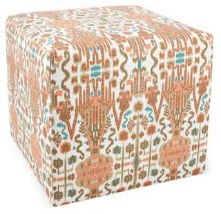 Baker Ottoman, Mango/Multi - One Kings Lane