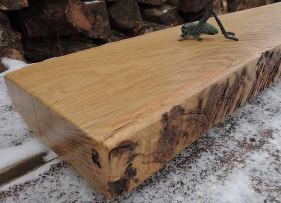 Rustic Oak Fireplace Mantel - Etsy
