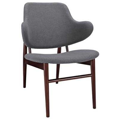 Cherish Wood Lounge Chair in Dark Gray - Domino