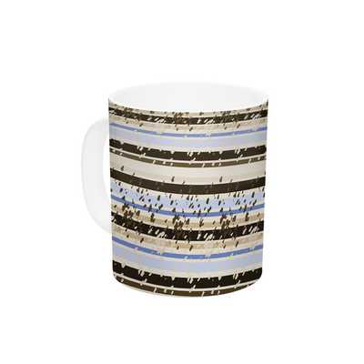 Nautical Breeze - Sandy Stripes by Mydeas 11 oz. Ceramic Coffee Mug - AllModern