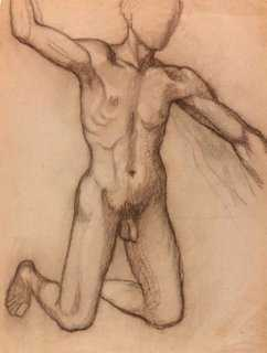 French Male Nude Drawing, 1932 - One Kings Lane