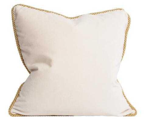 Colorblock Velvet Pillow Black & White - 18 x 18 - Down insert - Society Social
