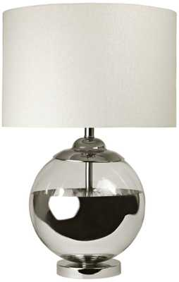 Mercury Ball Chrome Steel Table Lamp - Lamps Plus