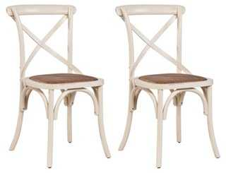 Christina Ivory Side Chairs, Pair - One Kings Lane