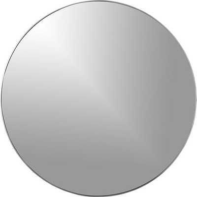 "infinity 24"" round wall mirror - CB2"