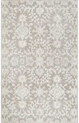 "Allentown Floral Ogee Damask Rug - Beige, 7' 6"" x 9' 6"" - Rugs USA"