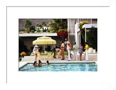 """Poolside Party- 46"""" x 34"""" - With White Frame - Photos.com by Getty Images"""