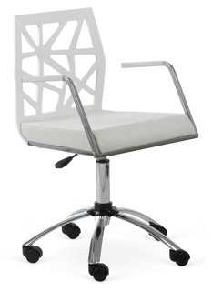 Sophie Office Chair, White - One Kings Lane