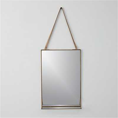 "Shelf 11""x28"" wall mirror - CB2"