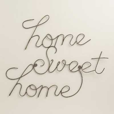Wire Home Sweet Home Wall Art - World Market/Cost Plus