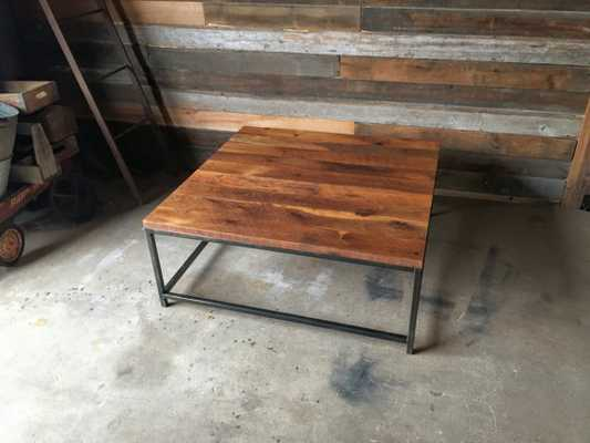 "Box Frame Reclaimed Wood Coffee Table - 36"" - Etsy"