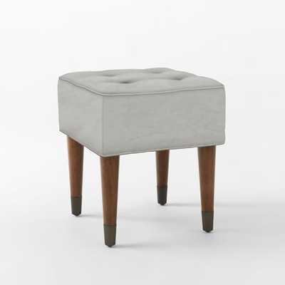 Upholstered Tufted Stool - West Elm