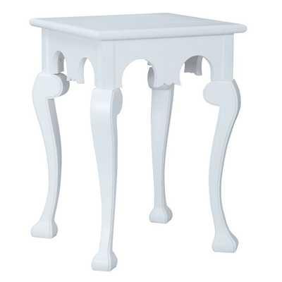 White Manor Cabriole Side Table - belleescape.com