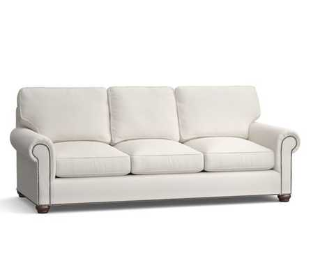 Webster Upholstered Sofa with Nailheads Collection-Grand Sofa - Pottery Barn
