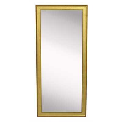 American Made Rayne Vintage Gold Floor Mirror - Overstock