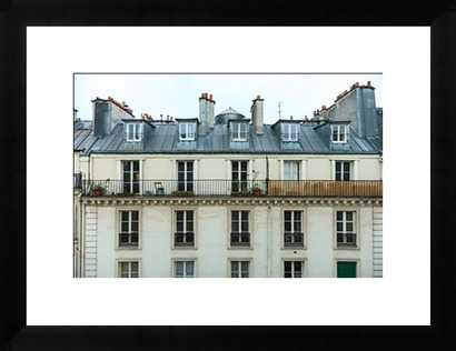 Roofs of Paris - 37x28 Framed - Photos.com by Getty Images