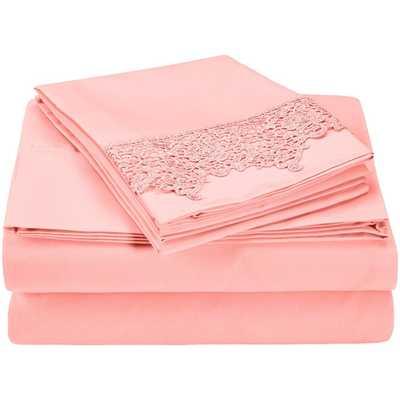 Heritage 3000 Series Microfiber Sheet Set - Pink - Queen - AllModern
