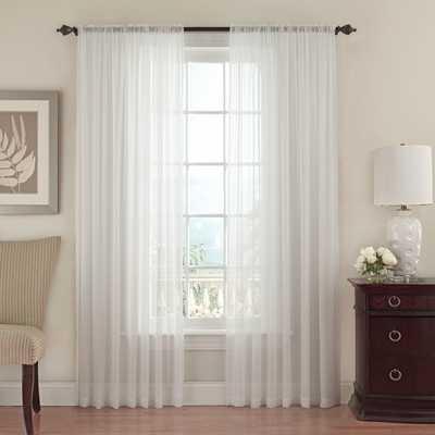 "Textured Chiffon Single Curtain Panel - 95"" L x 52"" - Wayfair"