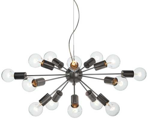 "Possini Euro Hemingson 33"" Wide Edison Bronze Pendant Light - Lamps Plus"