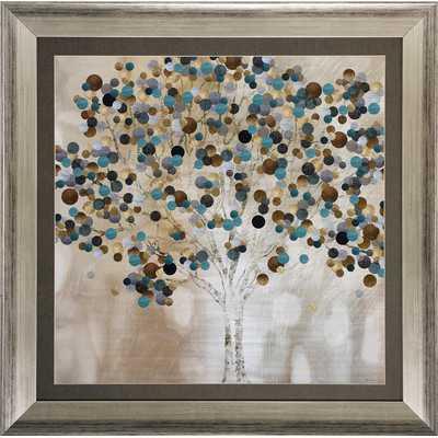 "A Teal Tree' Framed Graphic Art-30""-Framed - Wayfair"